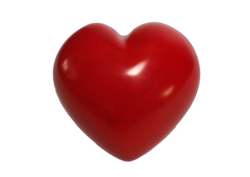 Red Soapstone Heart Paperweight