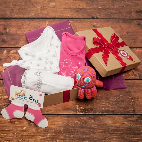 Baby bunting clothes in our girl's hampers