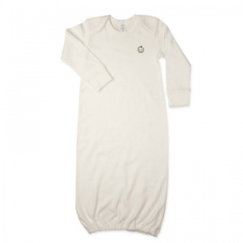 Green Baby Organic Sleep Gown in white