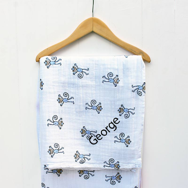 Personalised Aden & Anais Jungle Swaddle Blanket