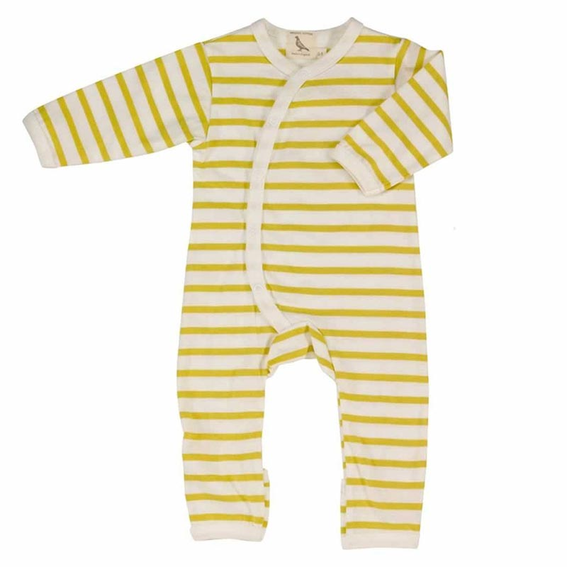 Pigeon Yellow Breton Stripe Romper Suit The Baby Box Company