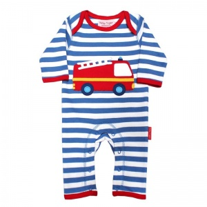 Toby Tiger Boys Fire Engine Sleepsuit