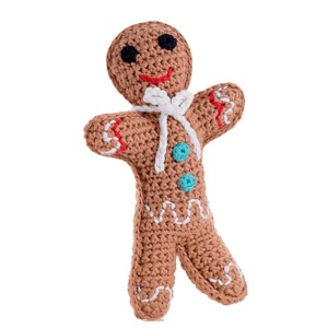 Crochet Soft Gingerbread Man Toy