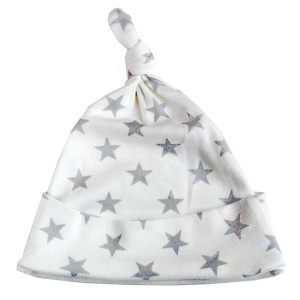 Baby Bunting Grey Star Print Knotted Hat