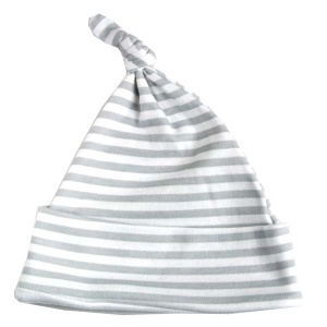 Baby Bunting Grey Stripe Print Knotted Hat