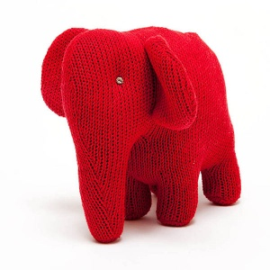 Red Elephant Soft Knitted Toy