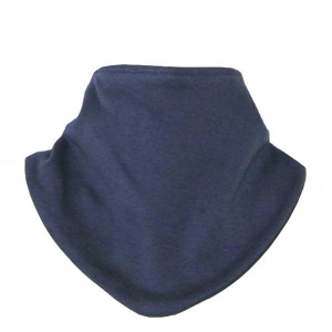 Bandana Bib, Navy, Cotton and Velcro fixing
