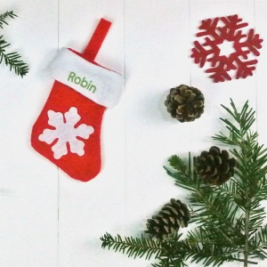 Personalised Baby Stocking Tree Decoration
