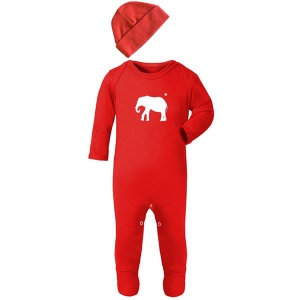 Red Elephant Unisex Baby Clothes Set