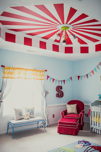 Circus nursery decor baby