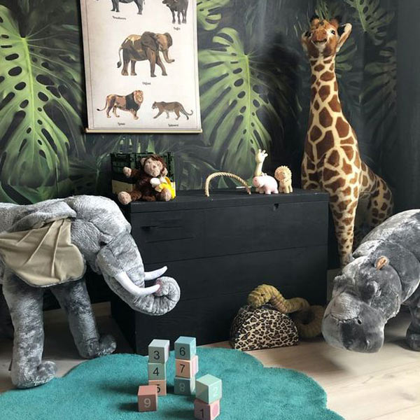 Unisex baby nursery jungle decor
