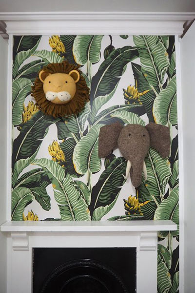 Unisex jungle baby nursery