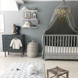 Baby Nursery decor, Statement grey bedroom