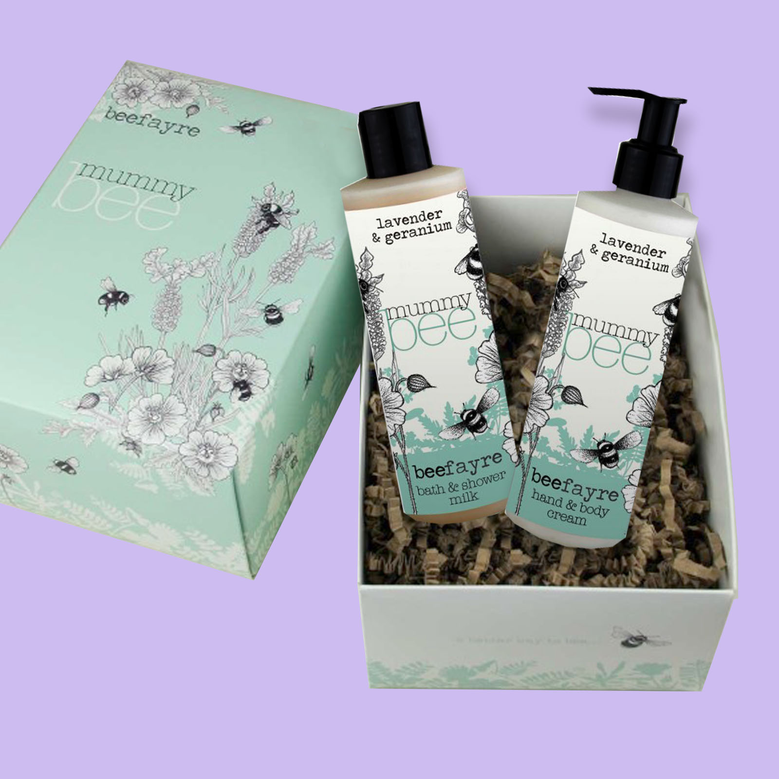 Beefayre Mummy Bee Bath and Shower Pamper Gift Set