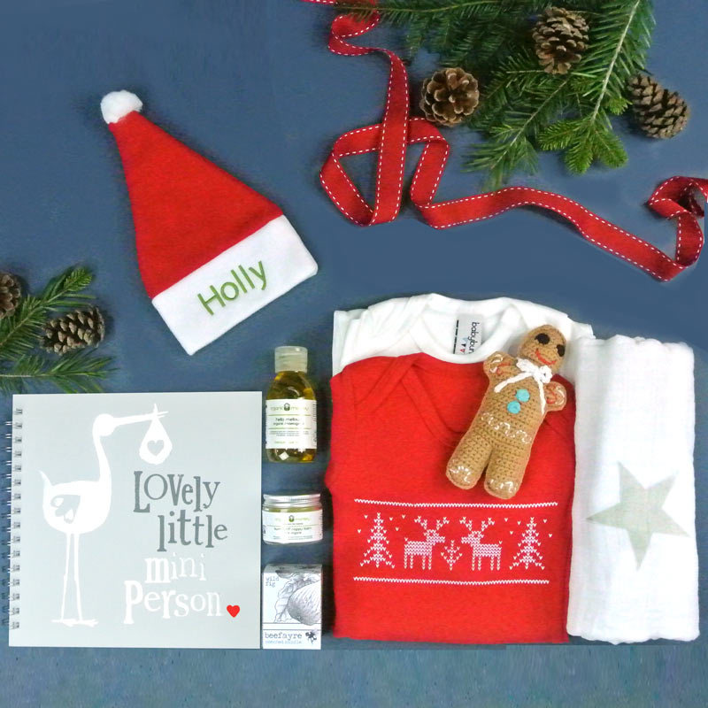 Personalised Baby's First Christmas Hamper