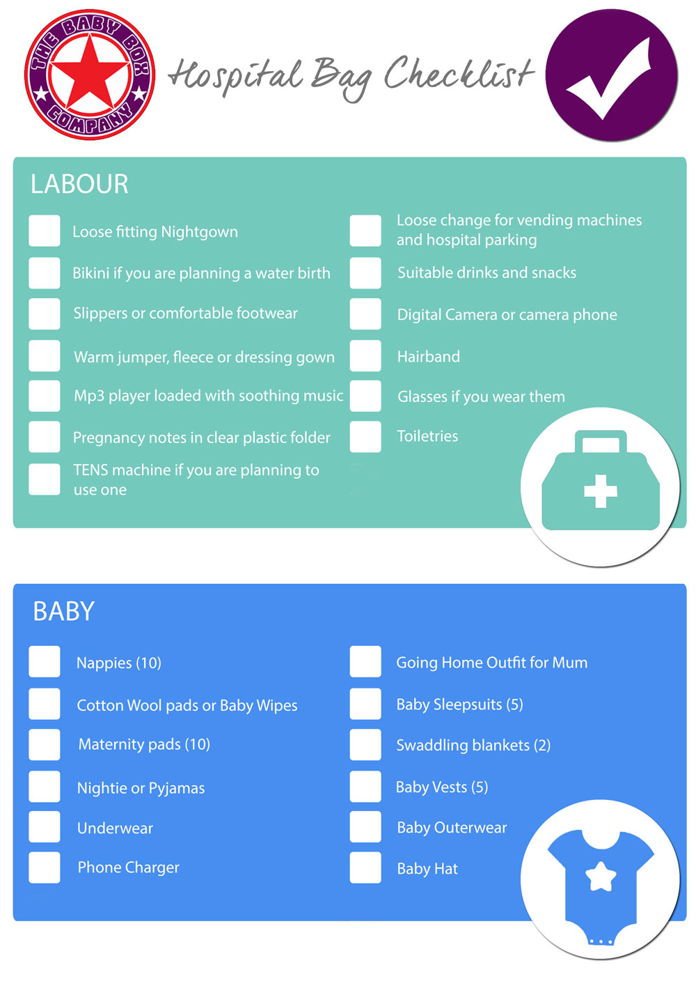 What To Pack For A Birth Hospital Bag Mum And Baby