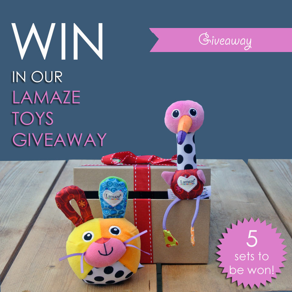 Win in our Lamaze baby toys giveaway August 2016