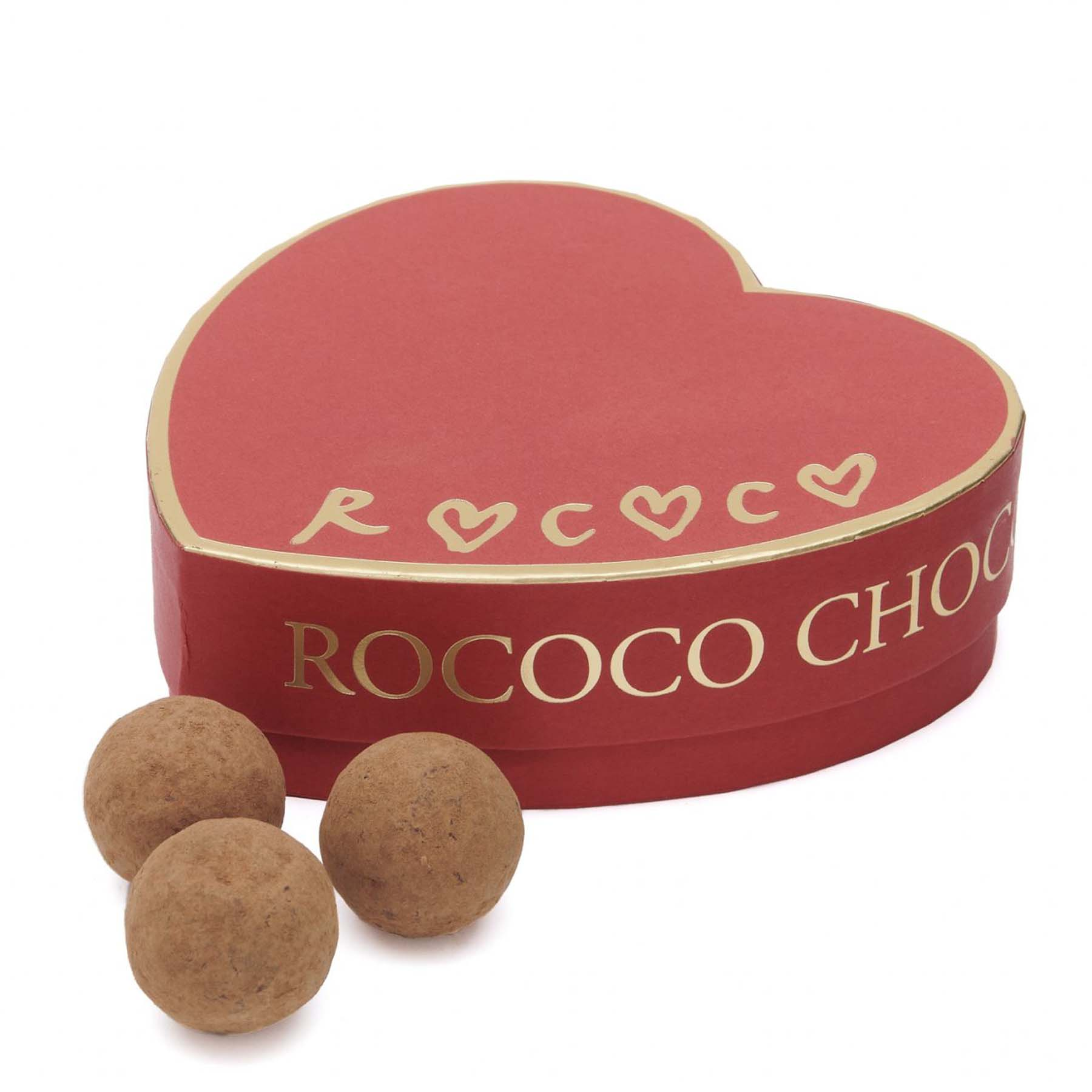 Red Rococo Valentine's Salted Caramel Truffle Box