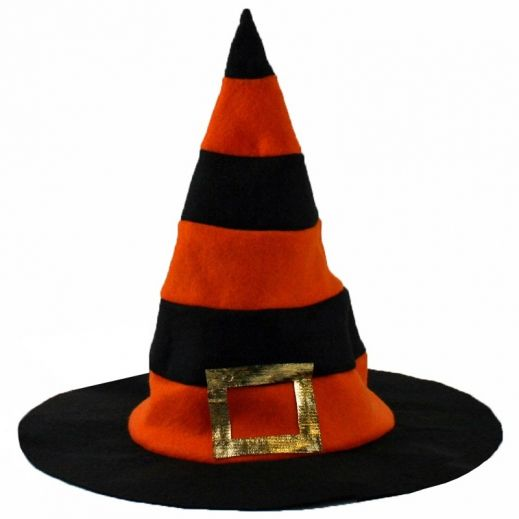 Black and Orange Witches Hat
