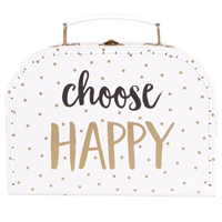 Choose happy suitcase by Sass and Belle