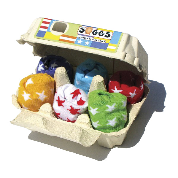 Egg box of baby socks