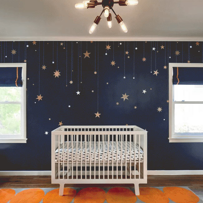 Space theme nursery decor 1