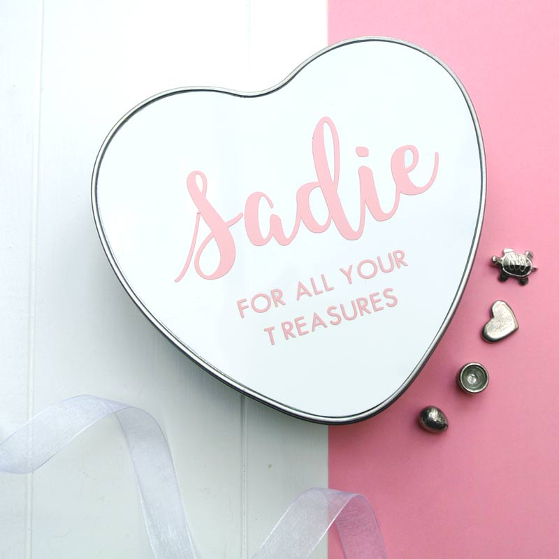 The Baby Box Company Personalised Baby Keepsake Tin - Heart