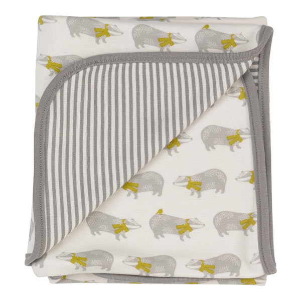 Pigeon Organic stripe badger blanket