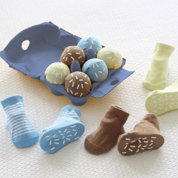 Ice Cream Baby Socks Eggbox Gift Set - Blue