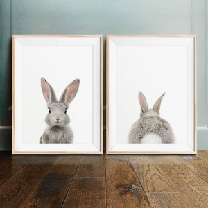 Baby Nursery decor, Animal prints, Rabbit face