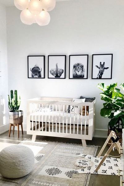 Baby Nursery Decor, Animal Print Baby Bedroom