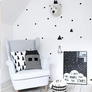 Baby Nursery decor, Monochrome Hipster bedroom