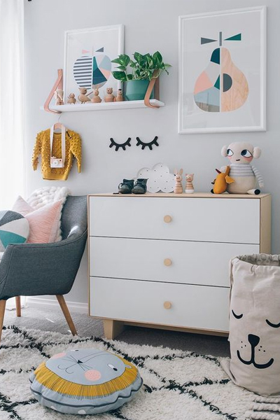 Baby Nursery Decor, Hipster and Indie Styling bedroom