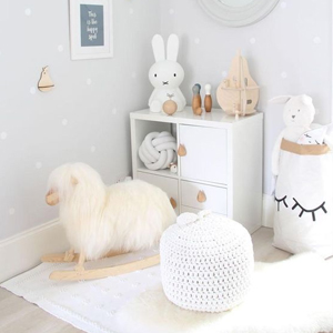 Baby Nursery decor, natural Hygge baby bedroom