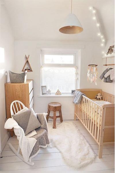 Baby Nursery Decor natural Hygge style