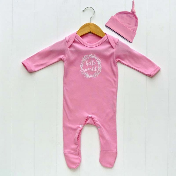 Newborn Baby Girls Outfit Set Pink