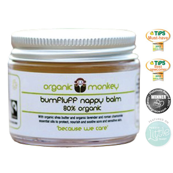 Organic Monkey Bumfluff Nappy Balm 50ml