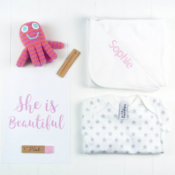 Personalised Baby Girl's Hamper - Large