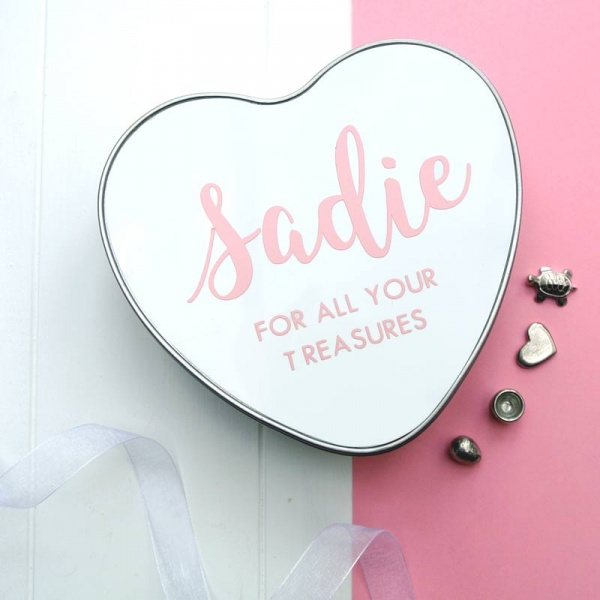 The Baby Hamper Company Personalised Baby Heart Tin