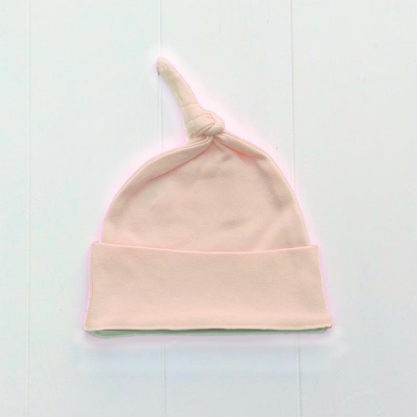 Newborn Baby Girls Blush Pink Knotted Hat