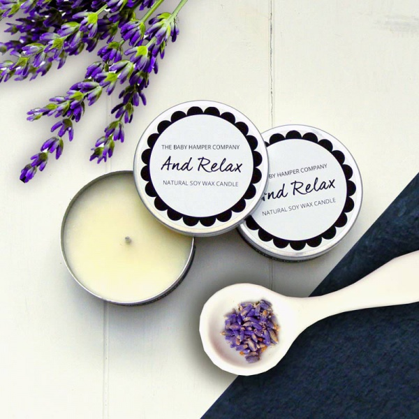 The Baby Hamper Company Relax Candle Tin