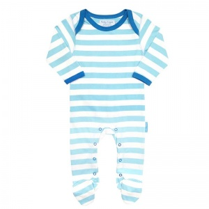 Toby Tiger Multi Blue Stripe Sleepsuit