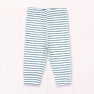 Grey and White Stripe Baby Leggings
