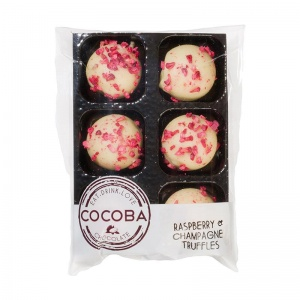 Cocoba Raspberry, Champagne & White Chocolate Truffles