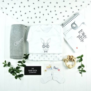 Personalised Baby Hamper Monochrome