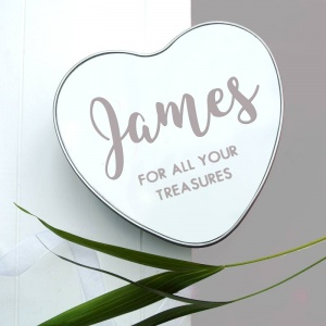 The Baby Hamper Company Personalised Baby Heart Tin - Grey
