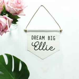 Personalised Baby Bedroom Pennant Flag