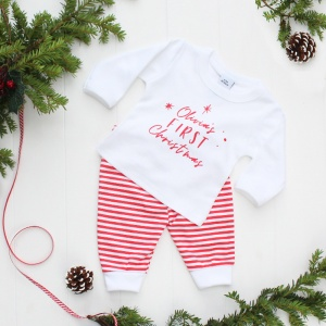 Baby's First Christmas T shirt and Leggings Set