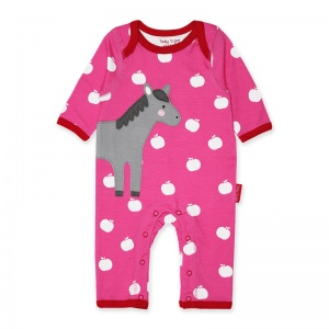 Toby Tiger Girl's Horse Applique Rompersuit