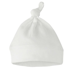 Knotted Hat, White, 100% Cotton